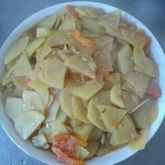 家常炒土豆片