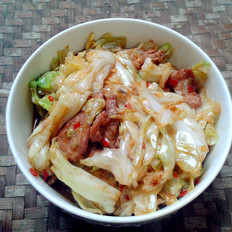 卷心菜炒肉片