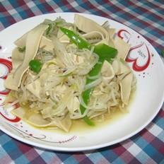 绿豆芽炒豆腐皮