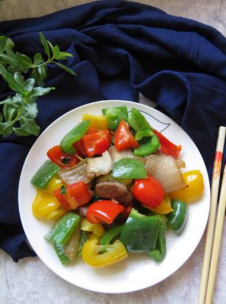 彩椒炒回锅肉的做法