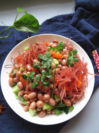 龙须菜拌花生的做法