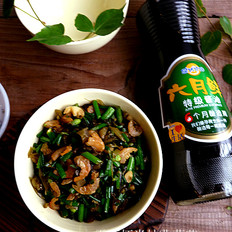 雪菜虾米炒韭菜花