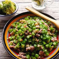 榨菜肉末炒四季豆