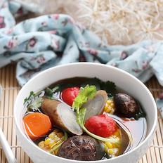 玉米牛蒡香菇汤