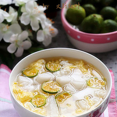 蛋花酒酿年糕#下午茶#