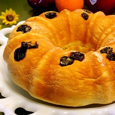 酸奶车厘子花色面包