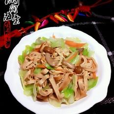 卷心菜炒干豆腐