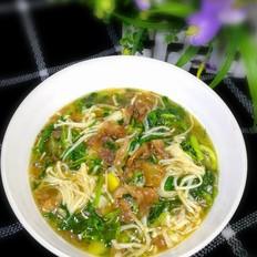 芹菜针菇牛肉汤
