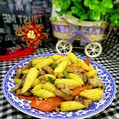 玉米笋口蘑炒肉
