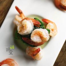 菠菜虾仁塔