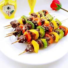 彩椒牛肉串