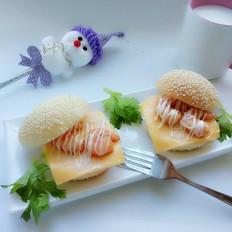 迷你虾仁小汉堡#早餐#