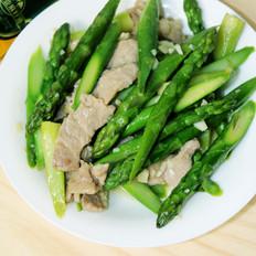 蒜香芦笋炒肉片