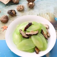 清炒花菇莴笋
