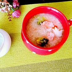 西兰花蟹棒粥