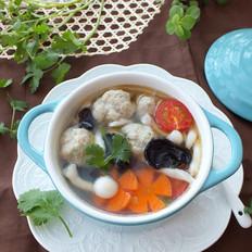 海鲜菇肉丸汤