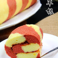 彩色条纹蛋糕卷