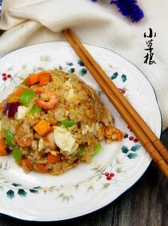 特色海鲜炒饭的做法