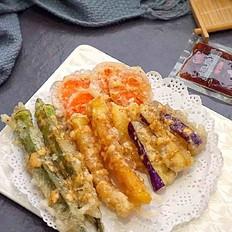炸蔬菜沙拉丘比沙拉汁