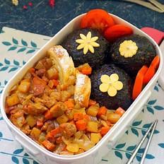 咖喱鸡肉饭盒