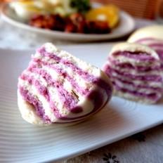 紫薯双色馒头