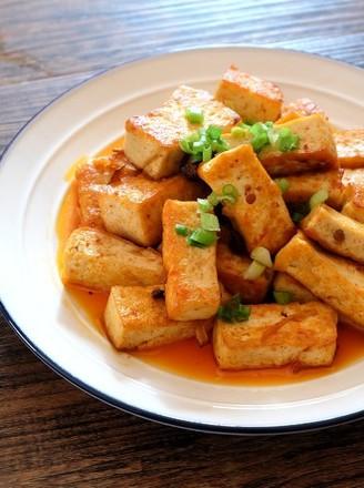 奥尔良香菇酱煎豆腐的做法