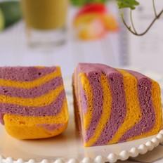 南瓜紫薯双色发糕