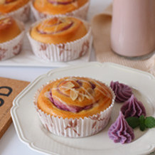 香芋紫薯面包卷#早餐#