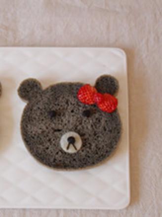 黑芝麻酱小熊面包的做法