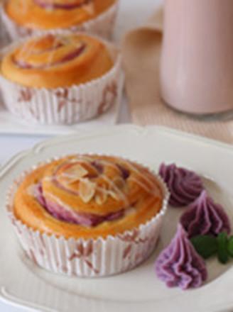 香芋紫薯面包卷的做法