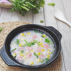 火腿玉米粥