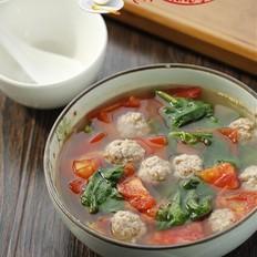 番茄木耳菜肉丸汤