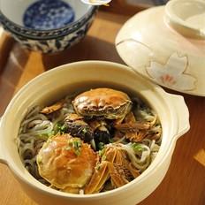 螃蟹粉絲煲
