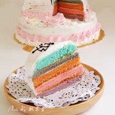 彩虹书形双层蛋糕