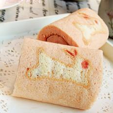 红曲彩绘蛋糕卷