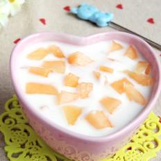 玉瓜大果粒酸奶#早餐#