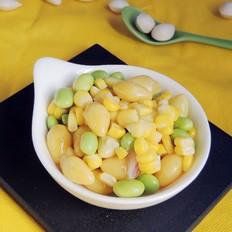 银杏炒玉米#晚餐#