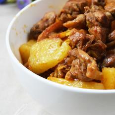 土豆焖鸭肉