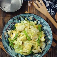 芹菜包菜小炒