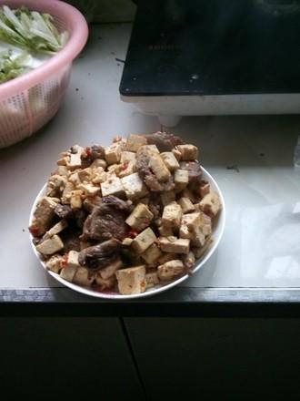 麻婆豆腐炒肉的做法