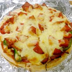 双火腿彩椒披萨