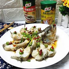 #金鸡报喜和家乐# 年年有鱼-清蒸鲈鱼