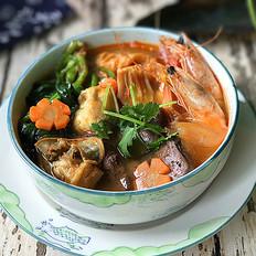 韩式海鲜锅的做法大全