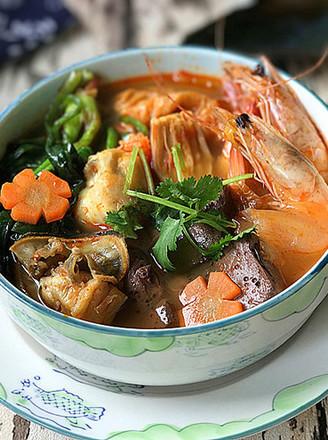 韩式海鲜锅 #晚餐#的做法