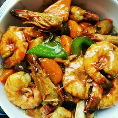 咖喱虾(自制东南亚菜)