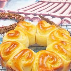 奶黃花環面包
