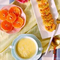 奶香蛋黄粥