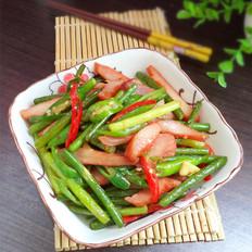 蒜苔炒猪颈肉