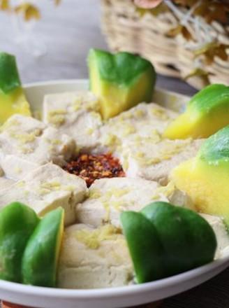 姜柄瓜蒸臭豆腐的做法