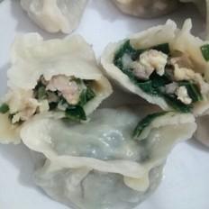 猪肉韭菜鸡蛋虾皮饺子